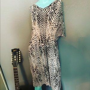 Soma Animal Print Cotton Dress Large Super soft!